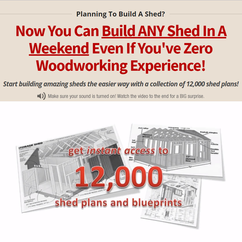12.000 shed plans