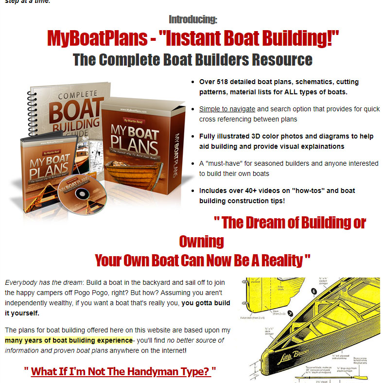 Instant boat building